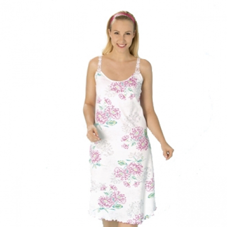 Thin Strap Floral Cotton Nightdress