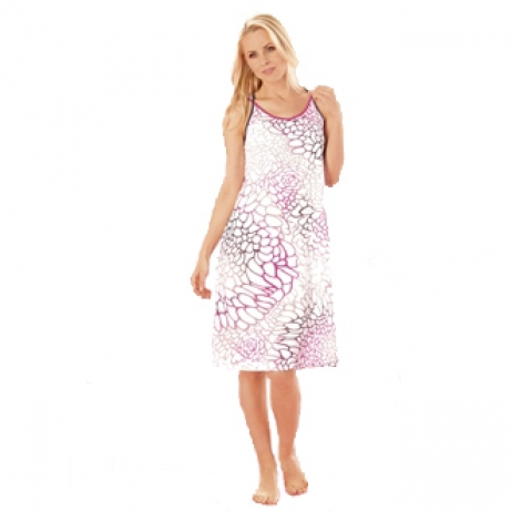 Strappy Printed Cotton Nightdress