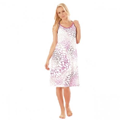 Strappy Printed Cotton Nightdress
