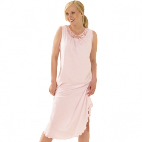 Elegant Pastel Sleeveless Nightdress