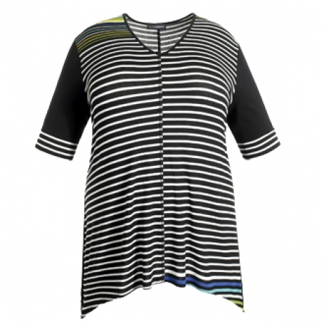 Striped Knitted Tunic Top Doris Streich Clothes