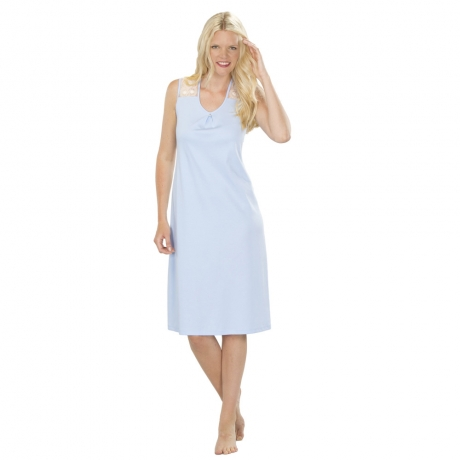 Cotton Modern Line Sleeveless Nightdress  Nightwear