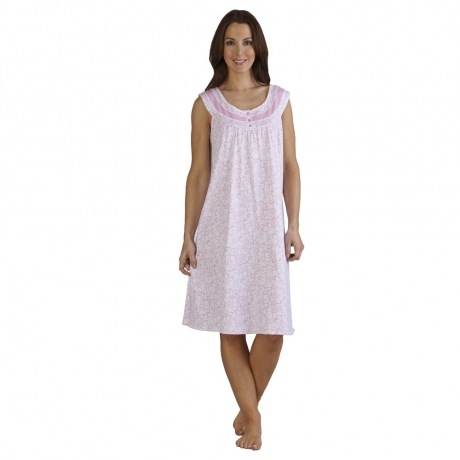 Sleeveless Floral Nightdress