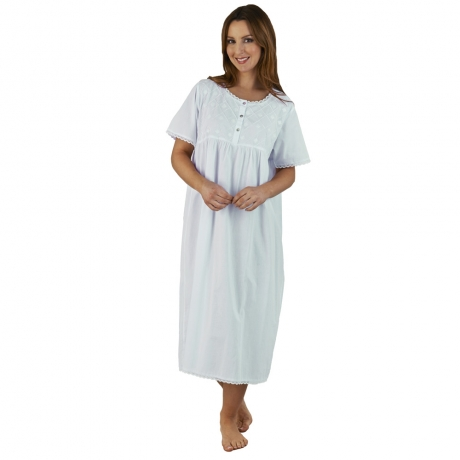 Cotton Short Sleeve Nightdress