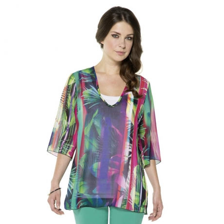 Tropical Sheer Blouse