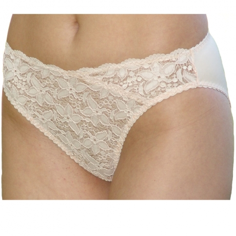 Stretch Lace & Microfibre Briefs Stretch Lace and Microfibre