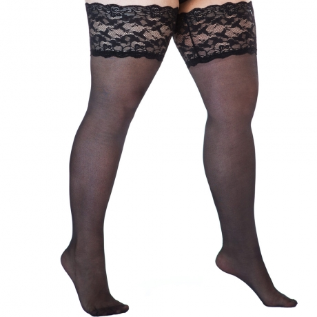 Plus Size Hold Up Stockings