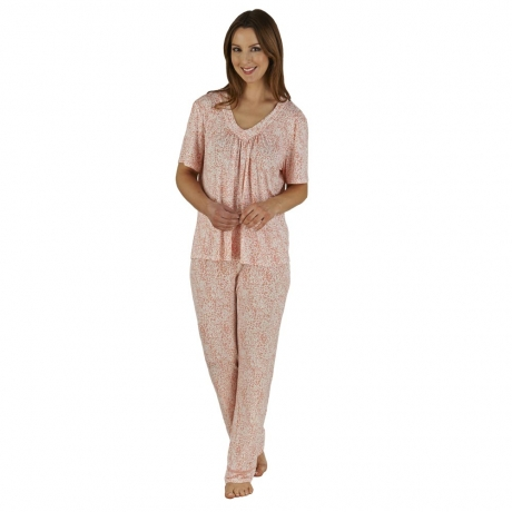 Short Sleeve V-neck Pyjama Set