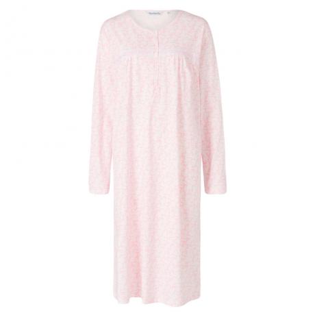 Long Sleeve 100% Cotton Nightdress Nightwear