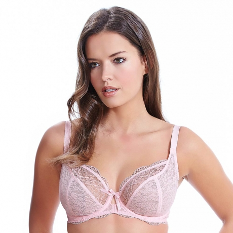 32DD Fancies Underwired Plunge Bra