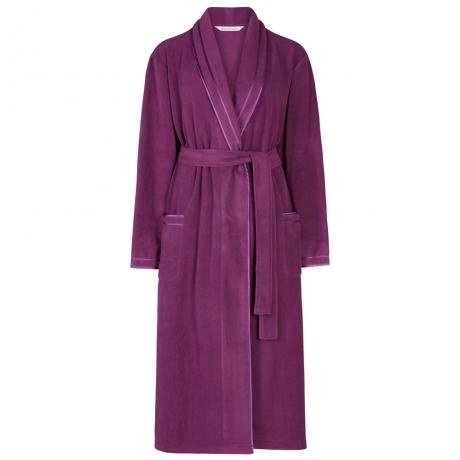 Wrap Front Fleecy Housecoat Housecoats