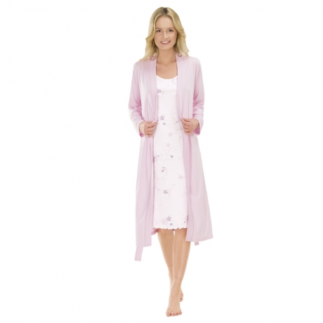 Wrap Front Cotton Dressing Gown Nightwear