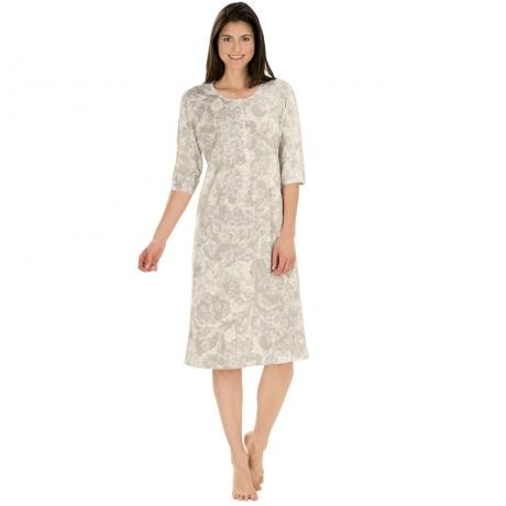 Floral print cotton longshirt