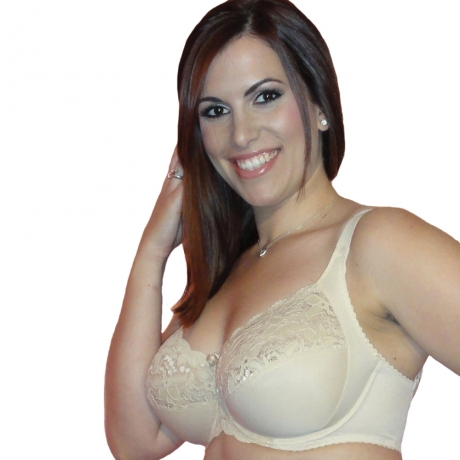 46FF Stretch Lace & Microfibre Bra
