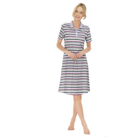 Classic Chic Short Sleeve Nightshirt