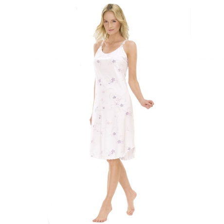 Classic Chic Strappy Cotton Nightdress