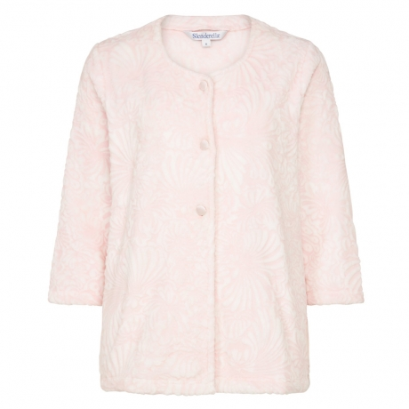 Cosy Soft Touch Buttoned 3/4 Sleeve Bedjacket Nightwear