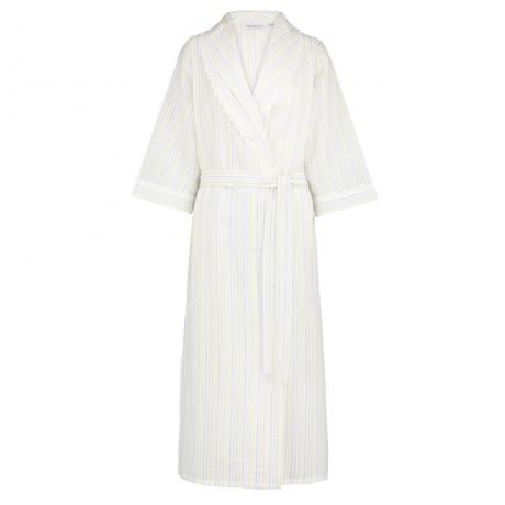 Seersucker Pastel Wrap Front Housecoat