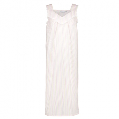 Seersucker Pastel Sleeveless Nightdress