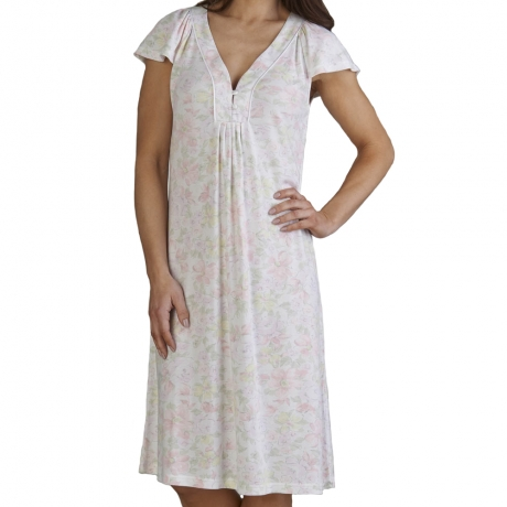 Floral Cap Sleeve Nightdress