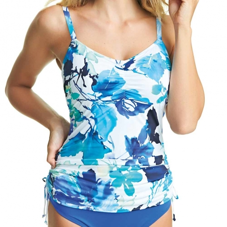 40DD Capri Adjustable Side Underwired Tankini Top