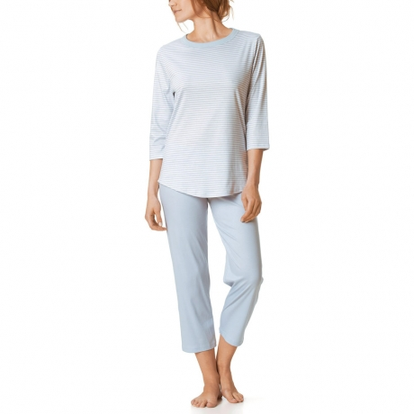 Lucia 3/4 Sleeve Calf Length Cotton Pyjama Set
