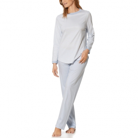 Lucia Long Sleeve Full Length Cotton Pyjama Set Nightwear