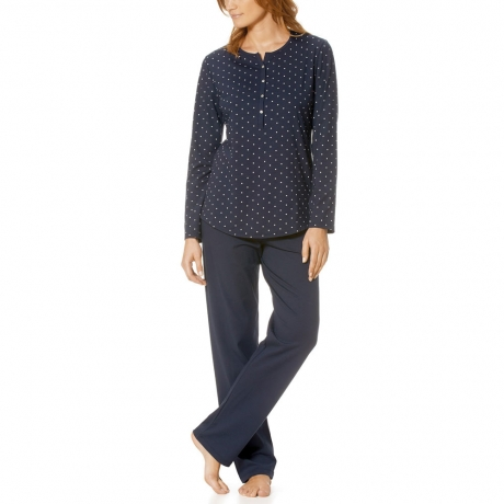 Chloe Long Sleeve Full Length Jersey Pyjama Set Nightwear