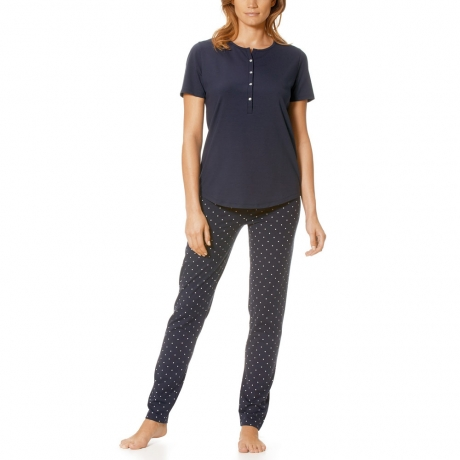 Chloe Short Sleeve Ankle Length Jersey Pyjama Set Nightwear