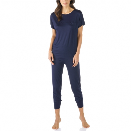 Selina Short Sleeve 7/8 Length Modal Pyjama Set Nightwear