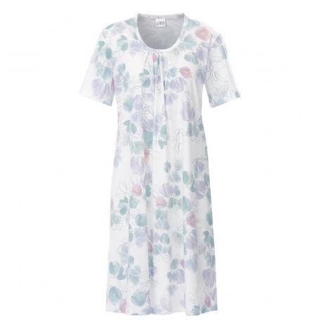 Modern Line Short Sleeve Cotton Sleepshirt