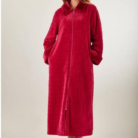 Waffe Fleece Zip Through Housecoat