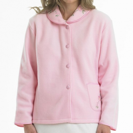 Polar Fleece Buttoned Bedjacket Nightwear