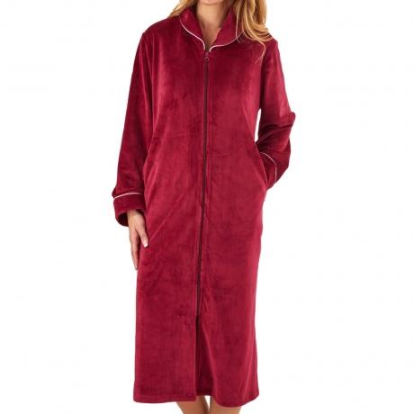 Zip Opening Fleece Housecoat Nightwear