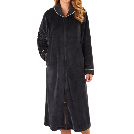 Zip Opening Fleece Housecoat