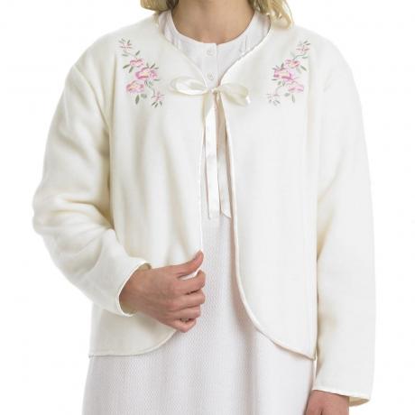 Size 26 Ribbon Tie Polar Fleece Bedjacket