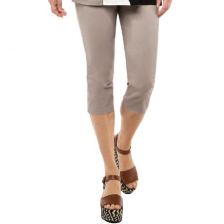 Slim Fit Cropped Trousers Doris Streich Clothes