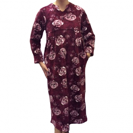 Long Sleeve Soft Fleece Kaftan Nightwear