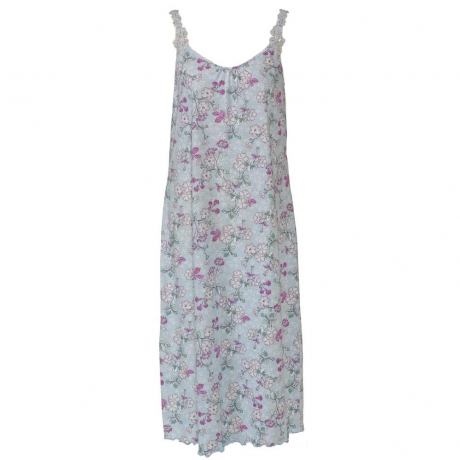 Flower Print Cotton Strappy Nightdress