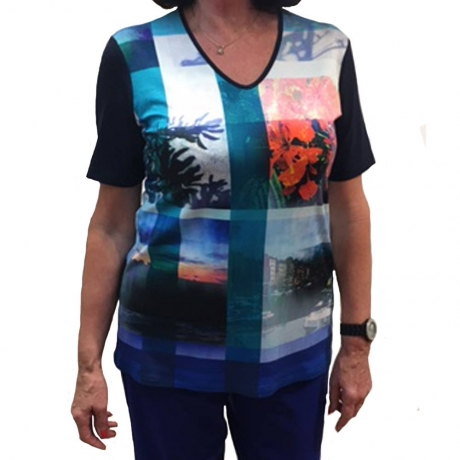 Photo Collage Tunic Top Doris Streich Clothes