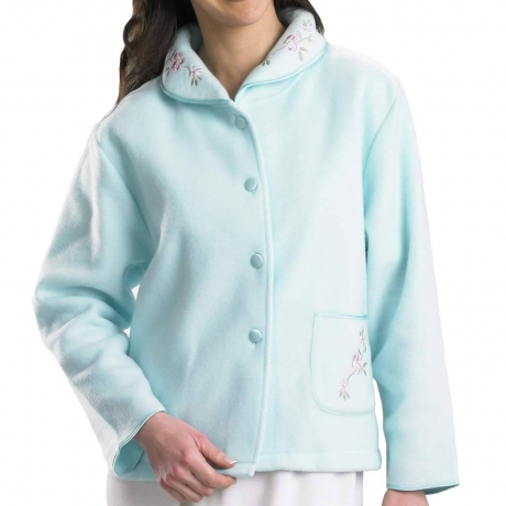 Polar Fleece Buttoned Bedjacket