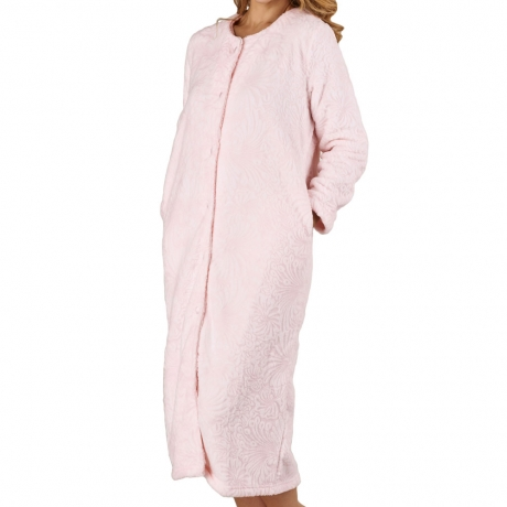Cosy Soft Touch Buttoned Housecoat Nightwear