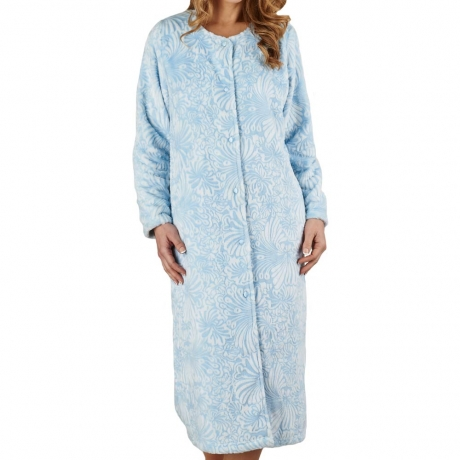 Cosy Soft Touch Buttoned Housecoat
