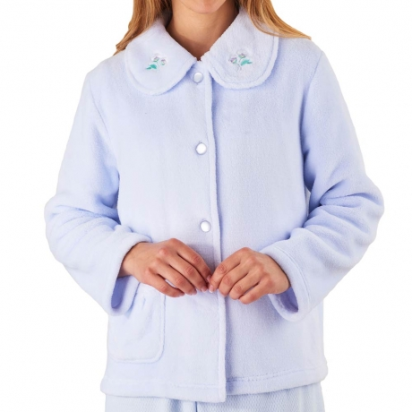 Button Through Warm Fleece Bedjacket