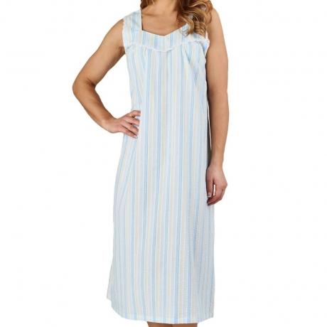 Seersucker Broad Strap Nightdress
