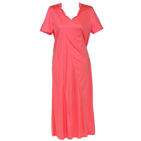 Short Sleeve Classic V-neck Nightdress Nightwear