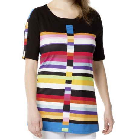Rainbow Striped Tunic Top Doris Streich Clothes