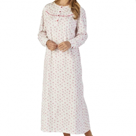 Long Sleeve Long Length Cotton Nightdress