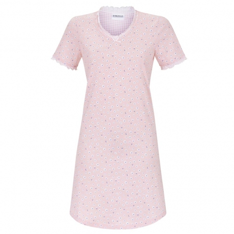 Daisy Short Sleeve Pure Cotton Nightdress Nightwear