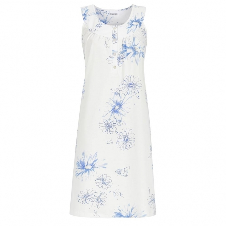 Floral Sleeveless Cotton Nightdress